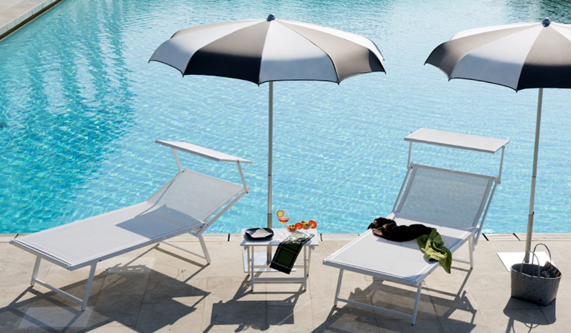 Bain de soleil haut de gamme en aluminium - relax big - gasparini collection