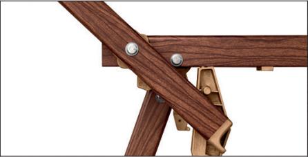 cadre aluminium effet bois