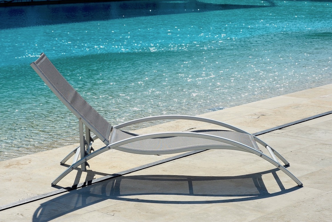 Bain de soleil Design en Aluminium avec Accoudoirs - Gasparini Collection