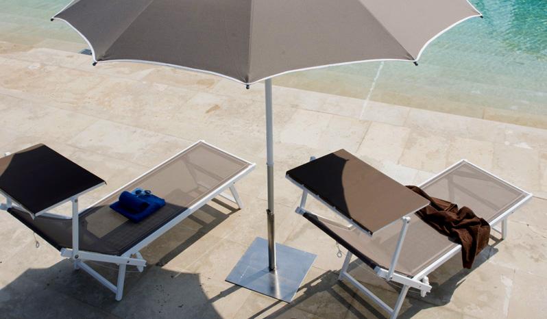 Pied de parasol en acier galvanisé