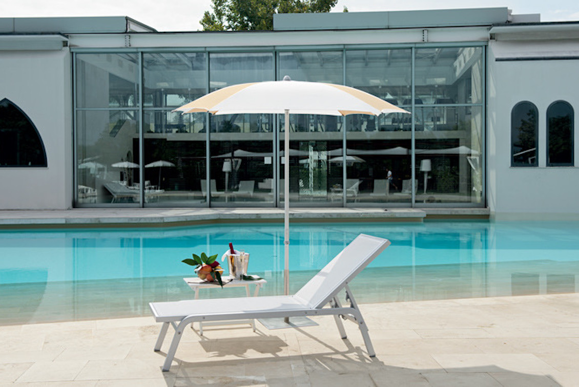 Bain de soleil haut de gamme en aluminium - Bain de soleil Navy - Gasparini Collection
