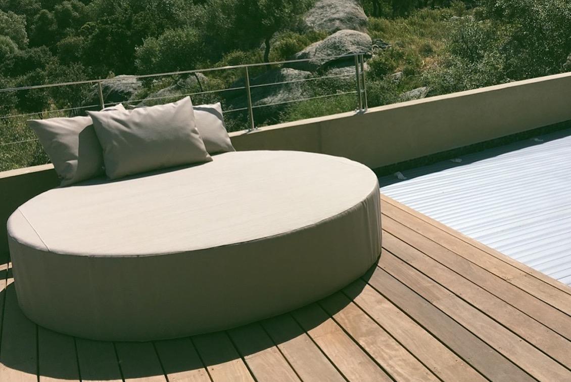 Bed rond pour plage et piscine Maissa - gasparinicollection.com