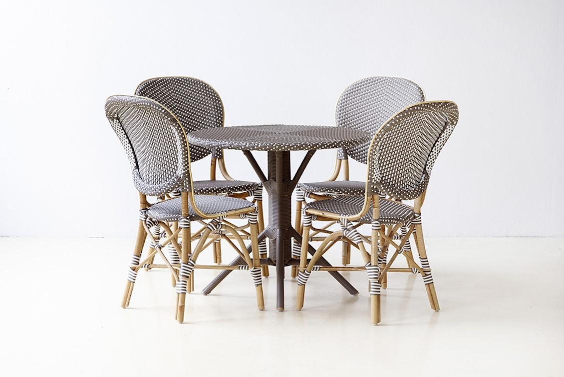 Chaise de repas Isabelle en rotin naturel brut - gasparinicollection.com