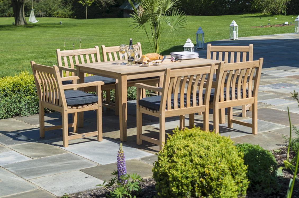 Table rectangulaire Tivoli en Roble FSC - gasparinicollection.com