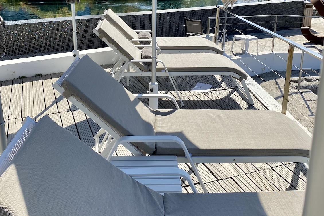 Bain de soleil en aluminium Haut de gamme - Gasparini Collection
