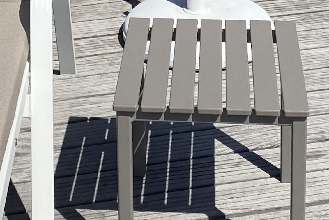 Tablette carrée en aluminium - mobilier d'extérieur haut de gamme - Gasparini Collection