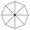 grand parasol format rond